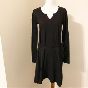 ANTHROPOLOGIE Left of Center Black T-Shirt Dress
